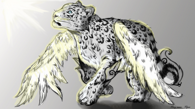 Winged snow leopard  Lipan.