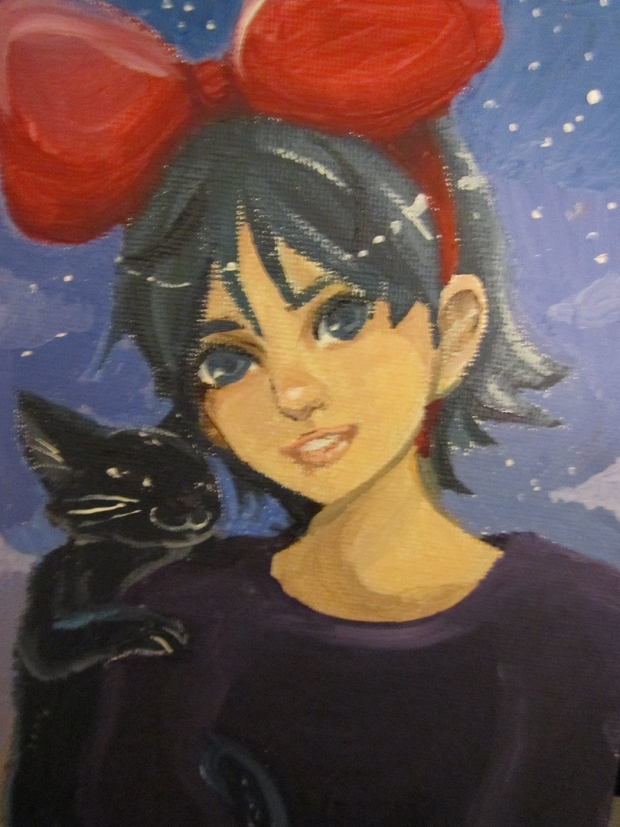 Kiki in paint