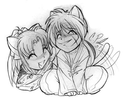 Neko Kenshin and Kaoru