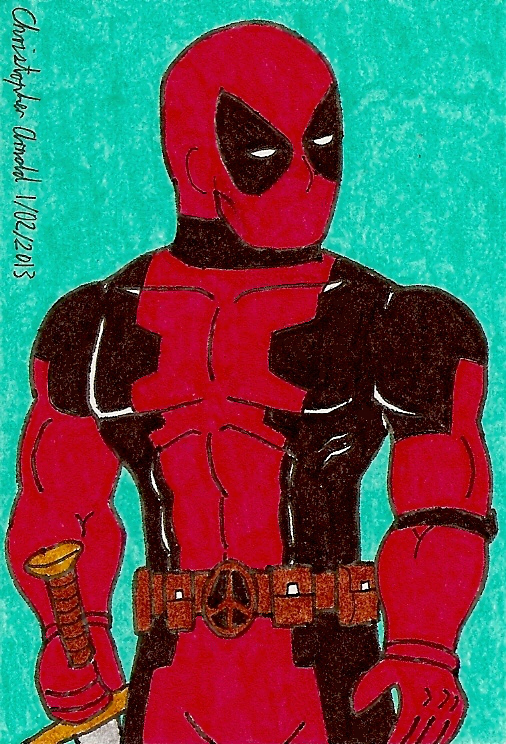 Deadpool Sketch Card