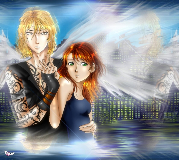 Jace and Clary from The Mortal Instruments