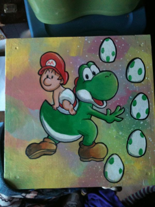 Hand Painted Yoshi Table