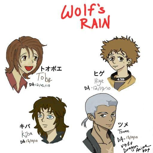The Gang from Wolf's Rain