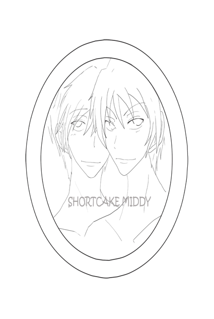 Hitachiin Twin Line Art