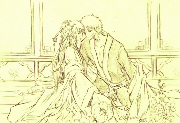 naruto x hinata :oriental style