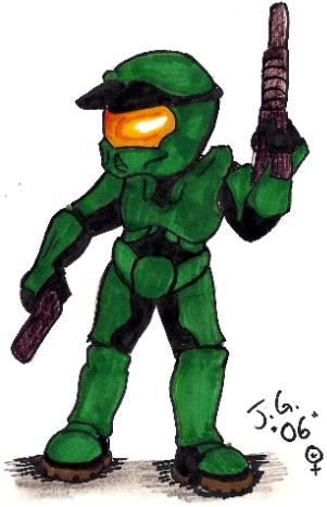 Chibi Master Chief!!