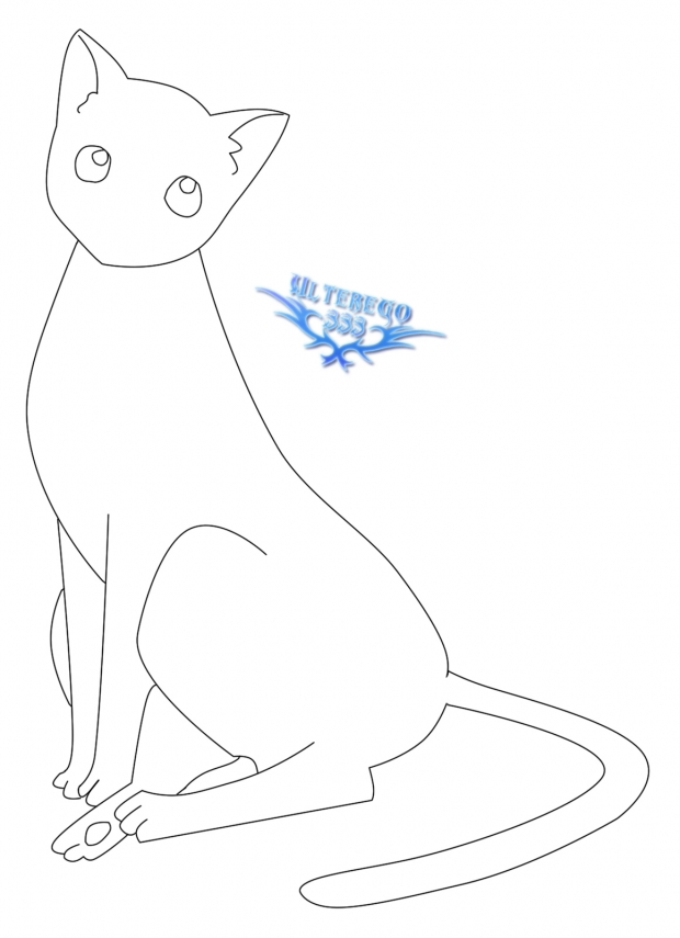 kyo cat Line art