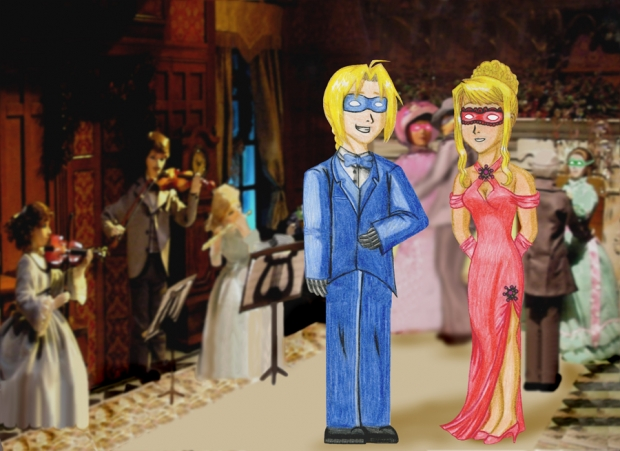 Ed And Winry At The Masquerade Ball
