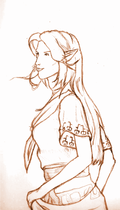 LOZ-Malon (LineArt)