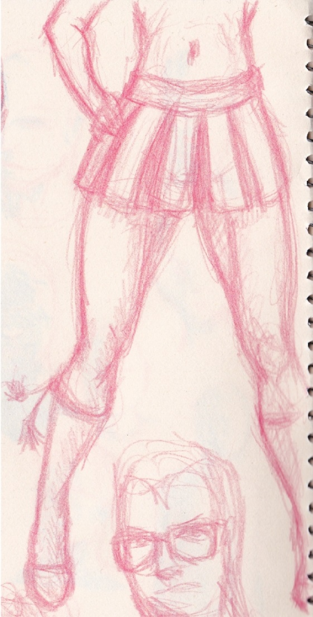 Girl in Mini Skirt doodle