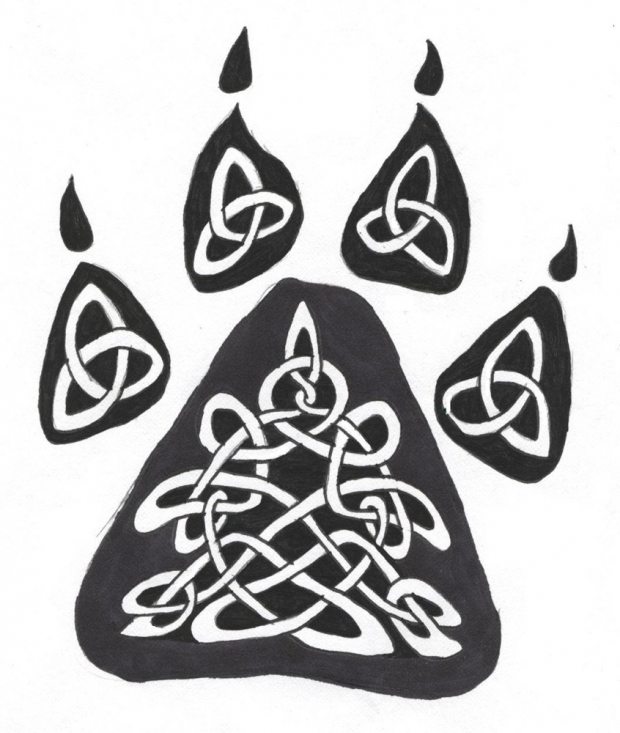 Celtic Wolf Paw Tattoo Design We now require registration to download high