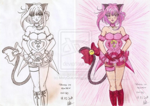 Mew Ichigo - comparison