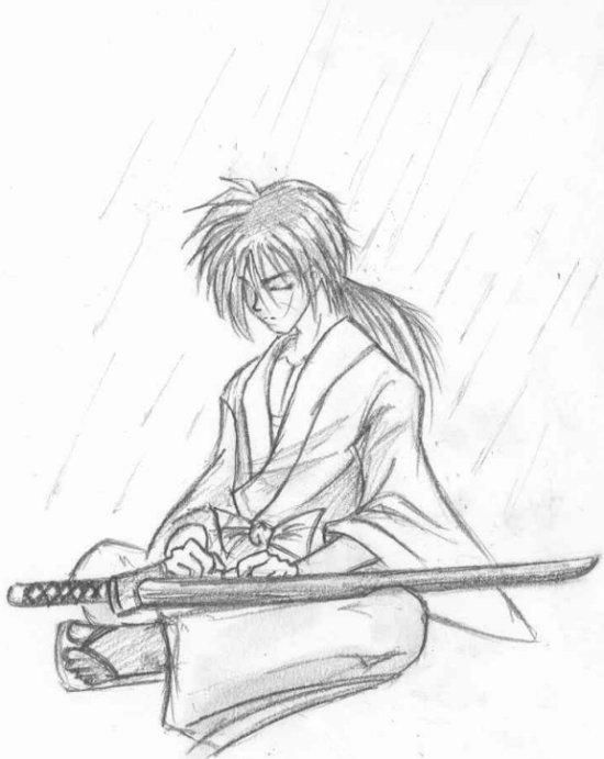 Kenshin In The Rain