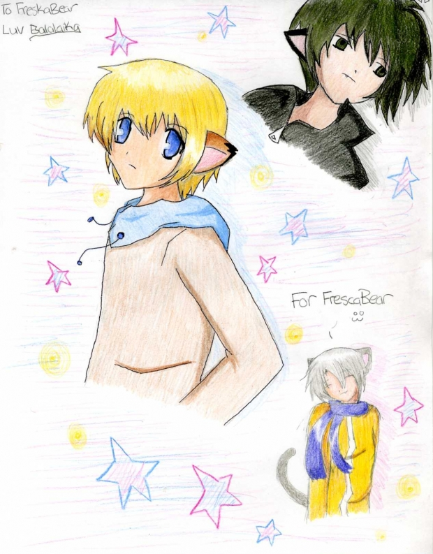 Art Trade: FrescaBear: Neko Boys