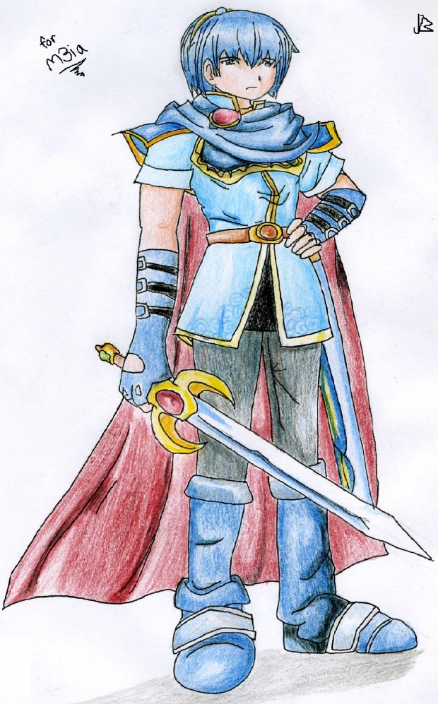 Art Trade: m3ia: Marth from SSBBrawl