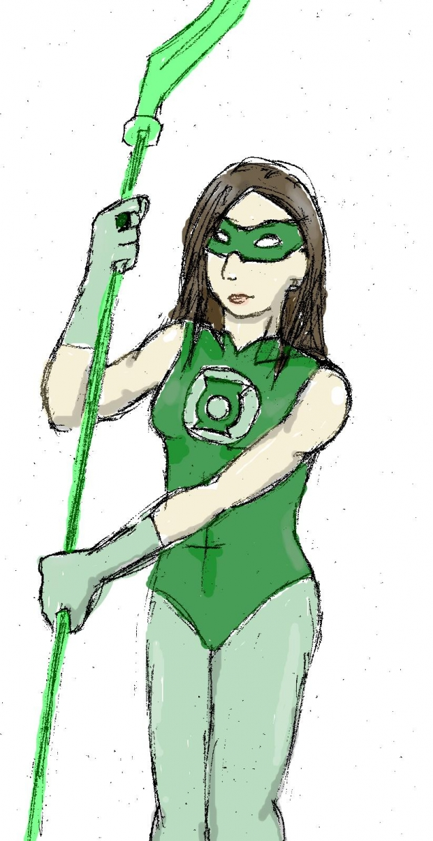 My friend as a Green Lantern