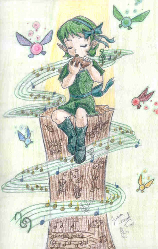 Saria Playing the Ocarina