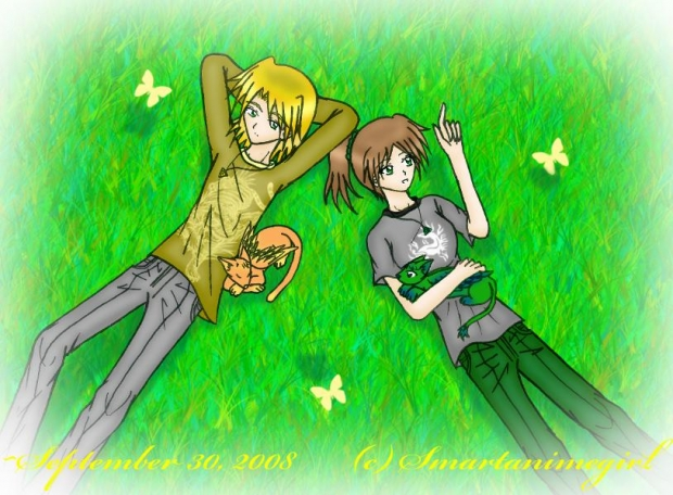 Charlie and Liz in the Meadow