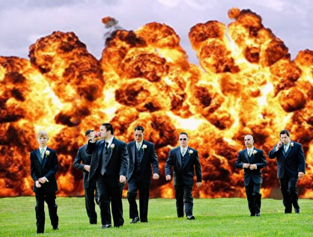 Real Men Don't Look at Explosions