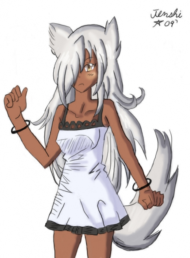 Silver haired Wolf-girl. We now require registration to download high