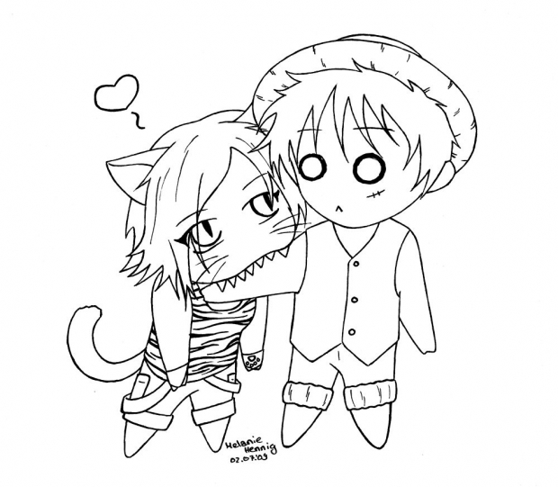 Ruffy and Sui -Chibi-