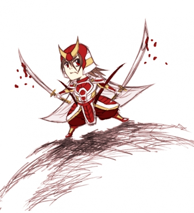 Samurai Red chibi