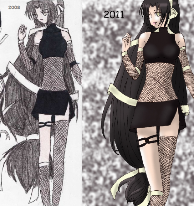 Black Haird Girl (Before & After)