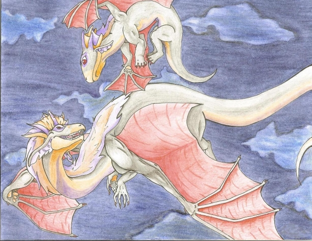 nightmare dragon and hatchling