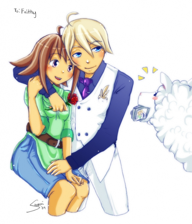 Harvest Moon ToT - Akari and Gill