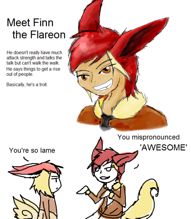 Meet Finn the Flareon