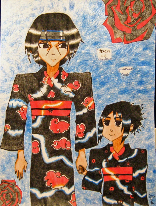+Itachi and Sasuke Yukata+