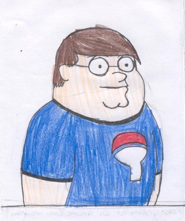 Peter wearing an Uchiha Shirt!!! (Family Guy)