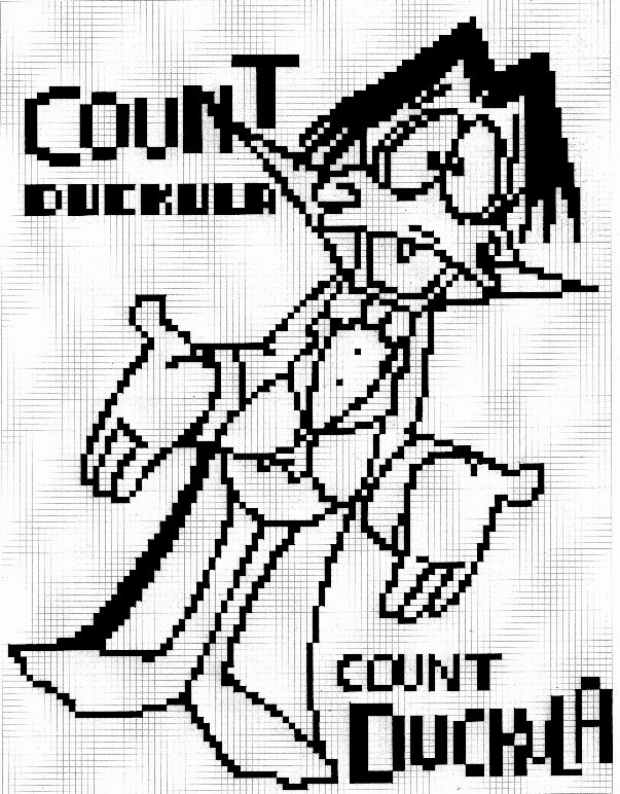 C.Duckula in pixel