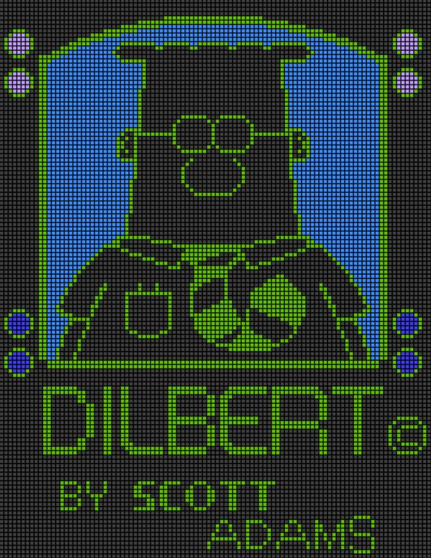 Dilbert in pixel001 Colour 'A'