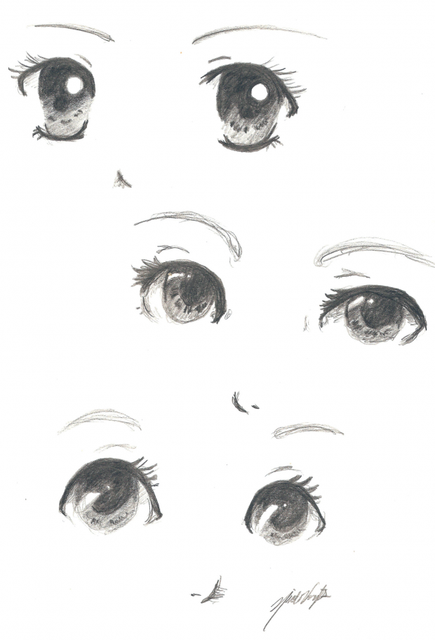 Sketches of eyes