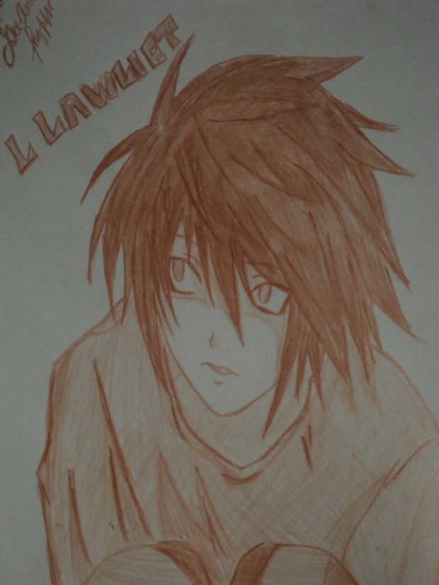 L sketch: brown
