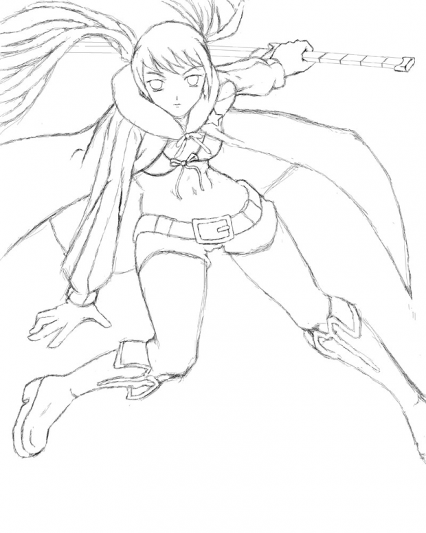 Black rock shooter sketch