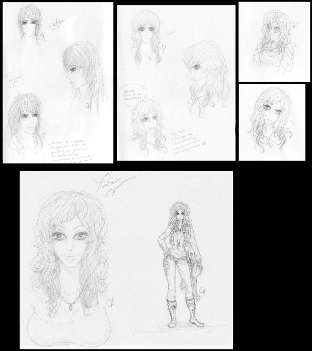 Unknown Character Concept Sketches