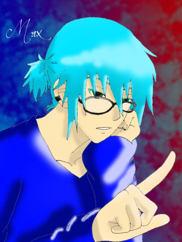 Max With Glasses colored