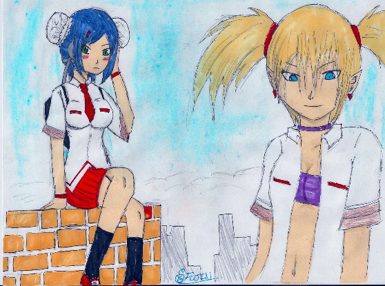 Mei-Fang and Lilica~School Uniform