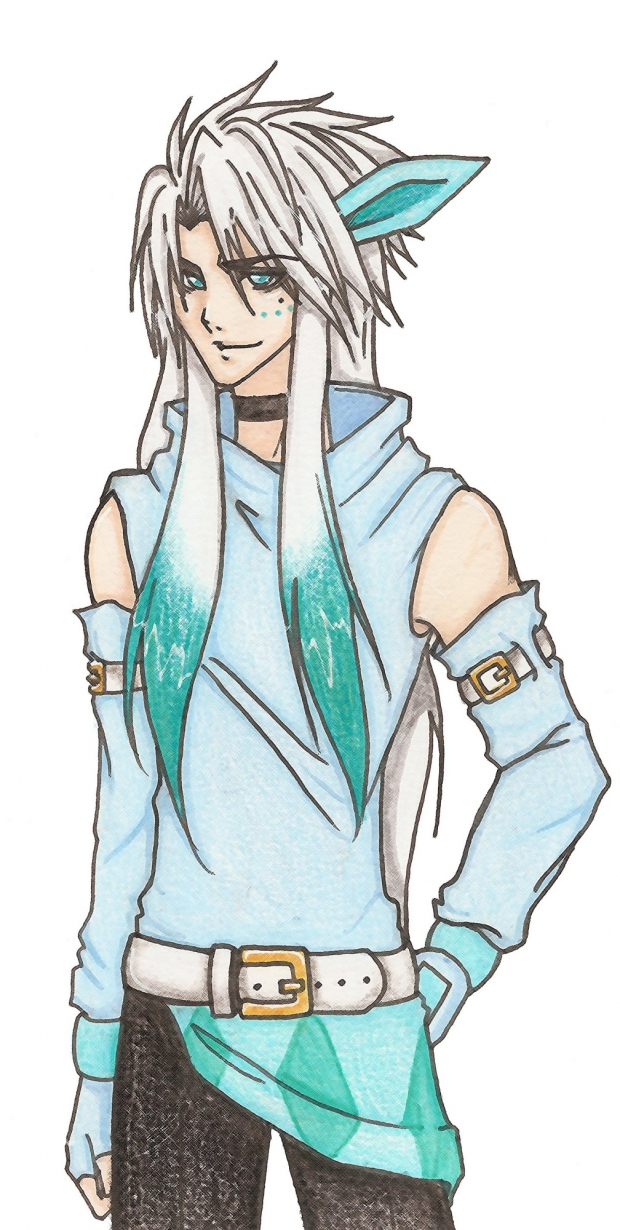 Gil the Glaceon colored version