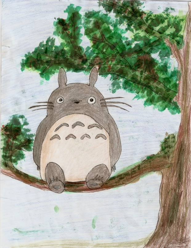 totoro on tree