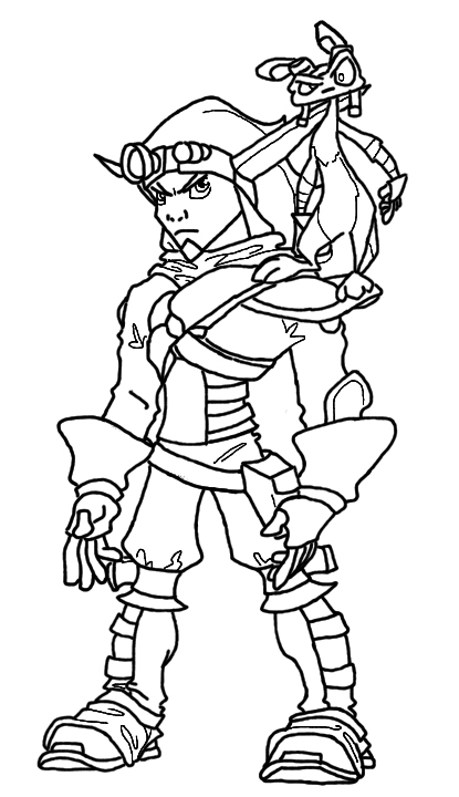 How To Draw Jak 3 Dexter Jak And Daxter Coloring Pages