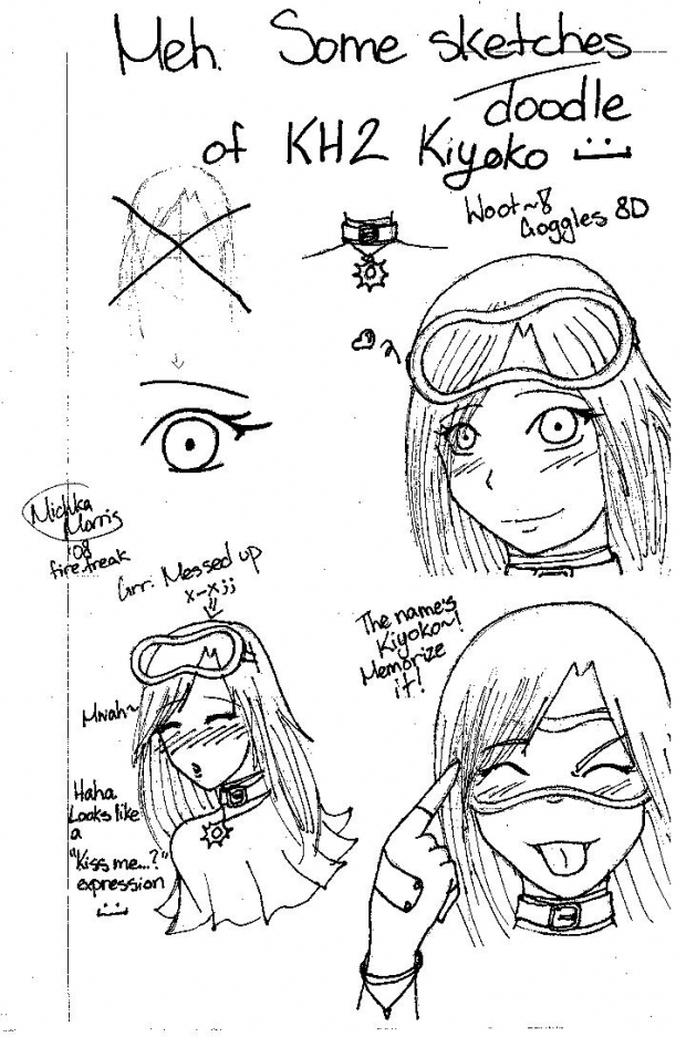 Meh. Sketchy doodles of KH2 Kiyoko~