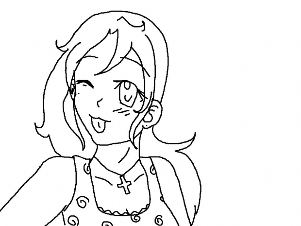 Here's Michka~! Nyeh! X3[not colored]