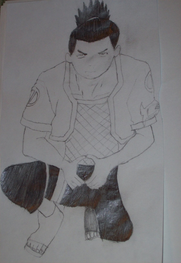 Shikamaru drawing right side up
