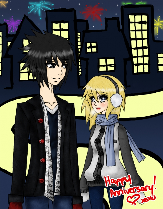 .::Sketchy City::. Happy Anniversary C: