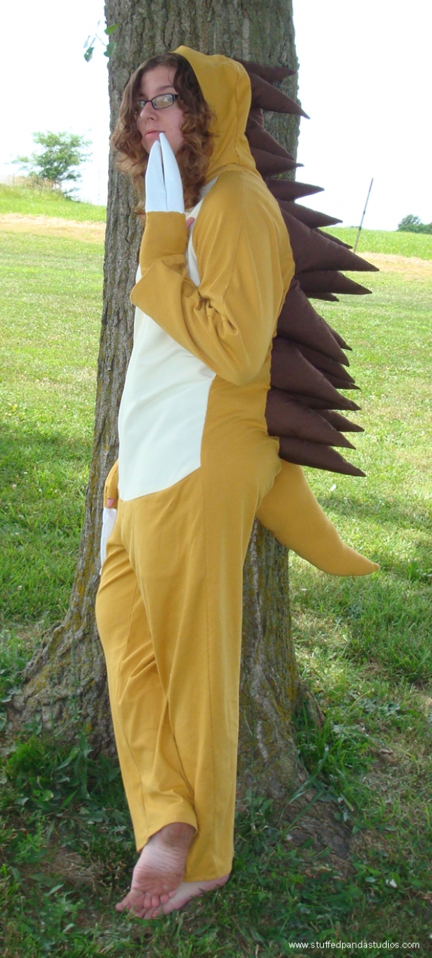 Sandslash zippered kigurumi