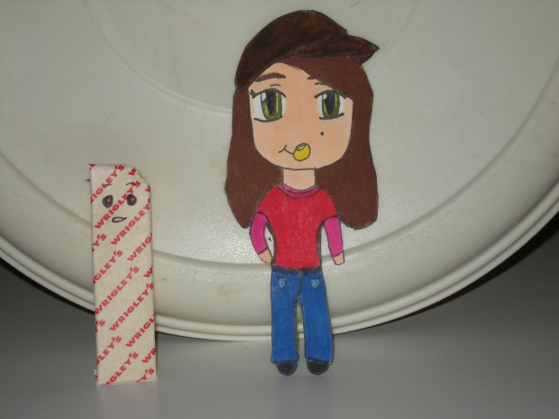 Me as a chibi paper child
