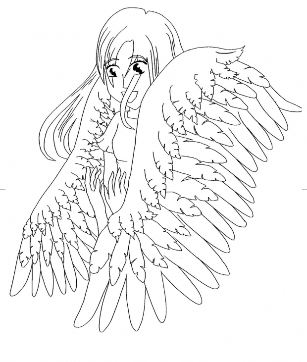 How To Draw Anime Angel Wings